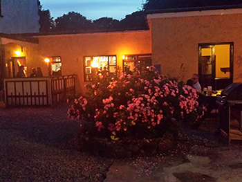 The Valley House Courtyard Bar at night